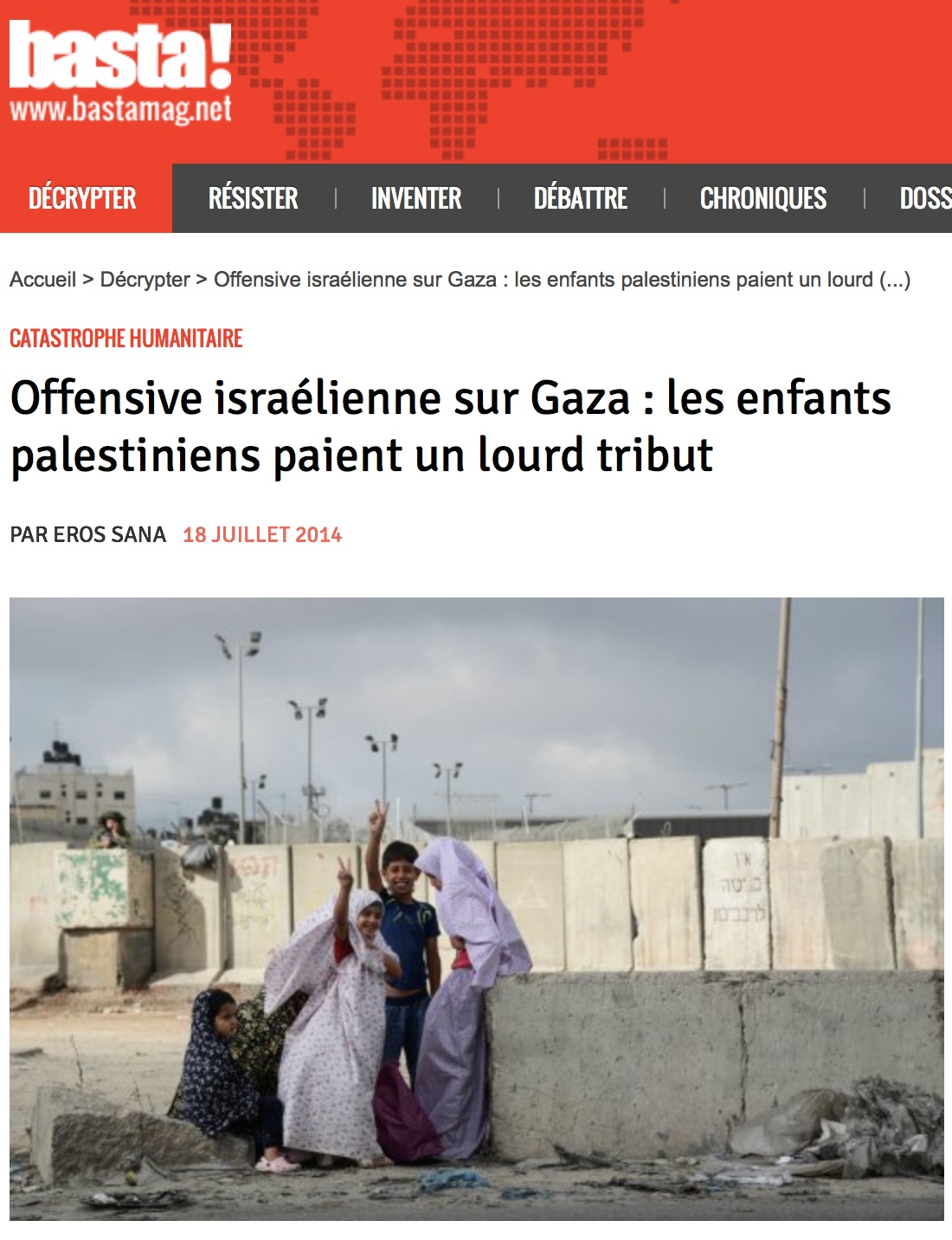Offensive israélienne à Gaza : reportage