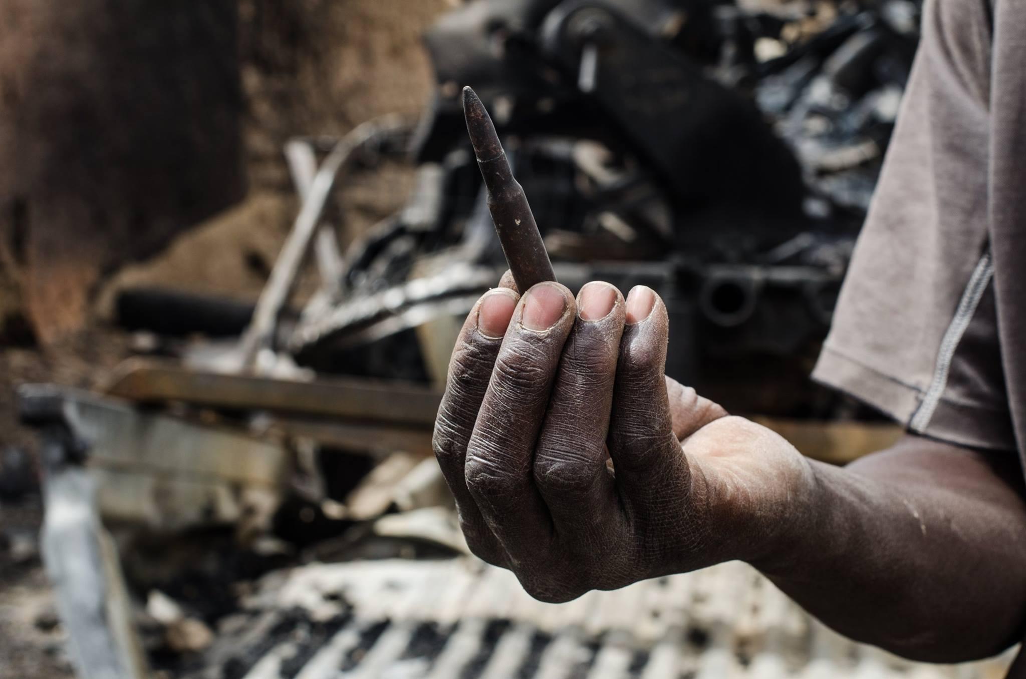 Nord Mali, reste de l'offensive des djihadistes.