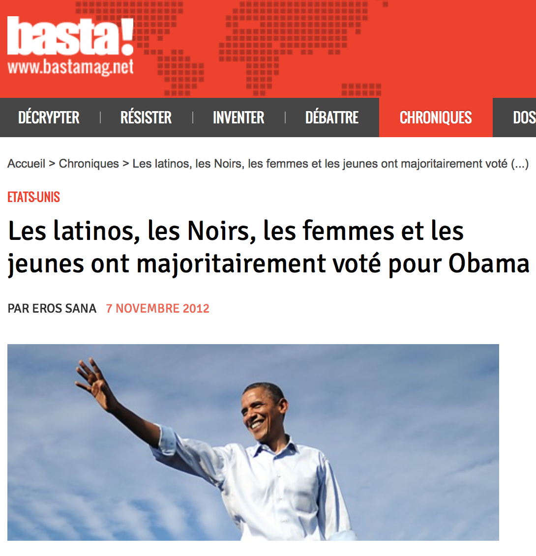 Réelection d'Obama