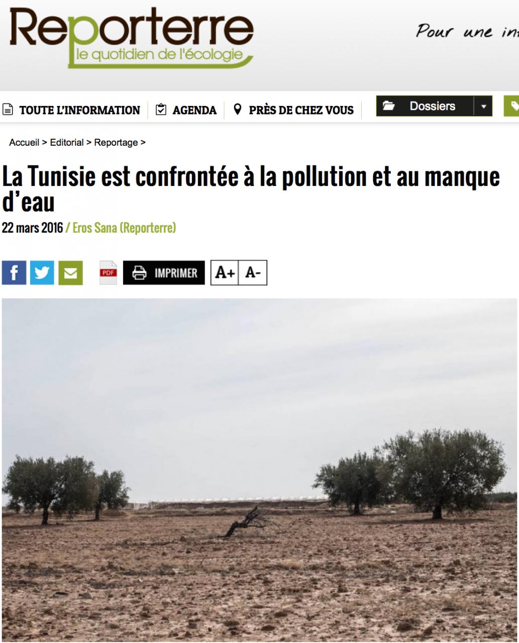Pollution et manque d'eau en Tunisie