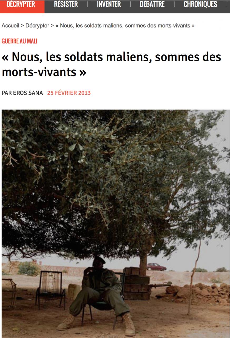 «Nous, les soldats maliens»