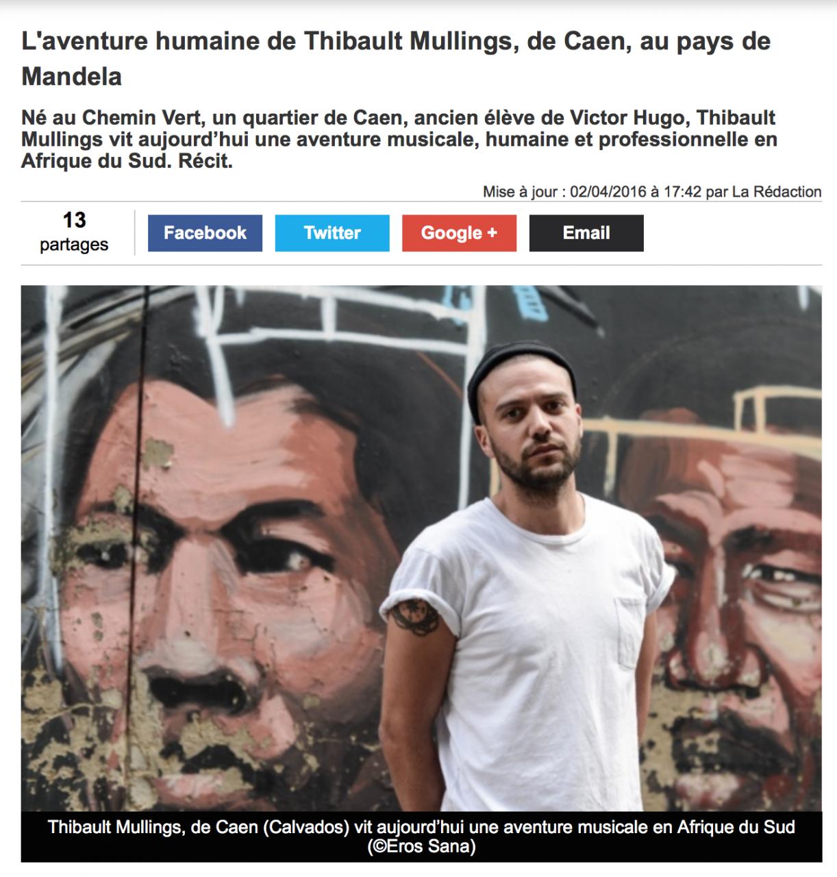 L'aventure de Thibault Mullings au pays de Mandela