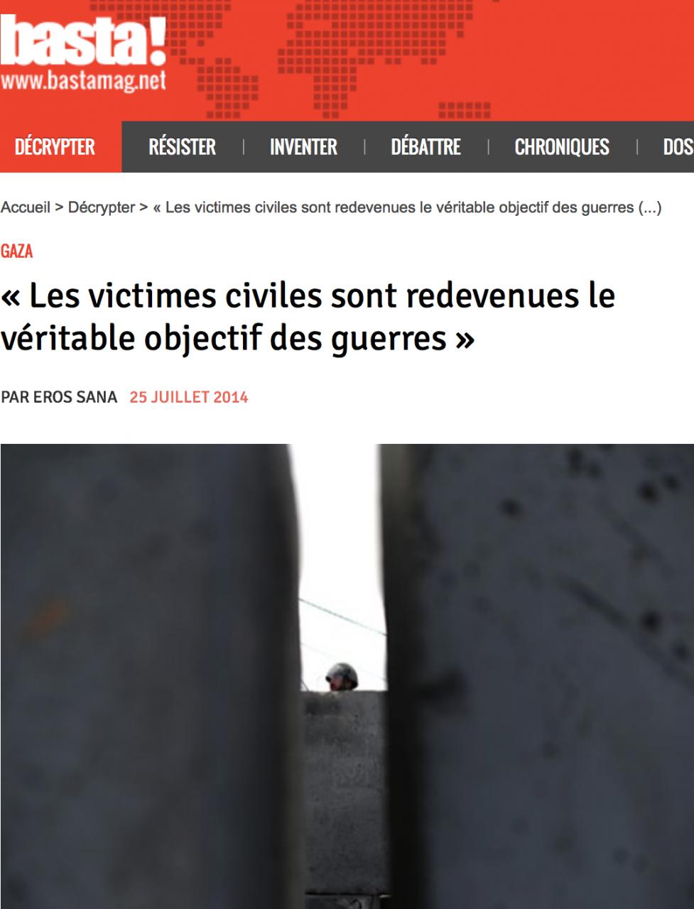 Victimes civiles : le véritable objectif
