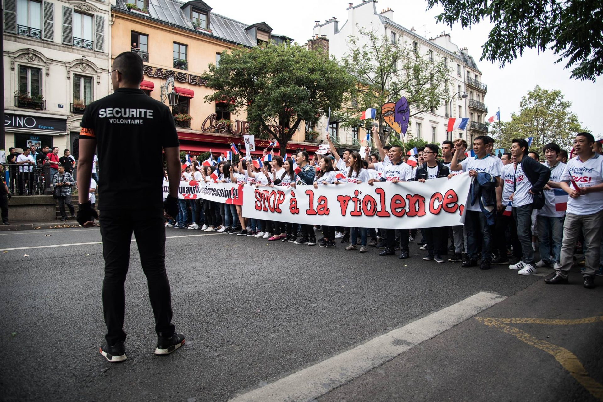 Manif communauté chinoise 1