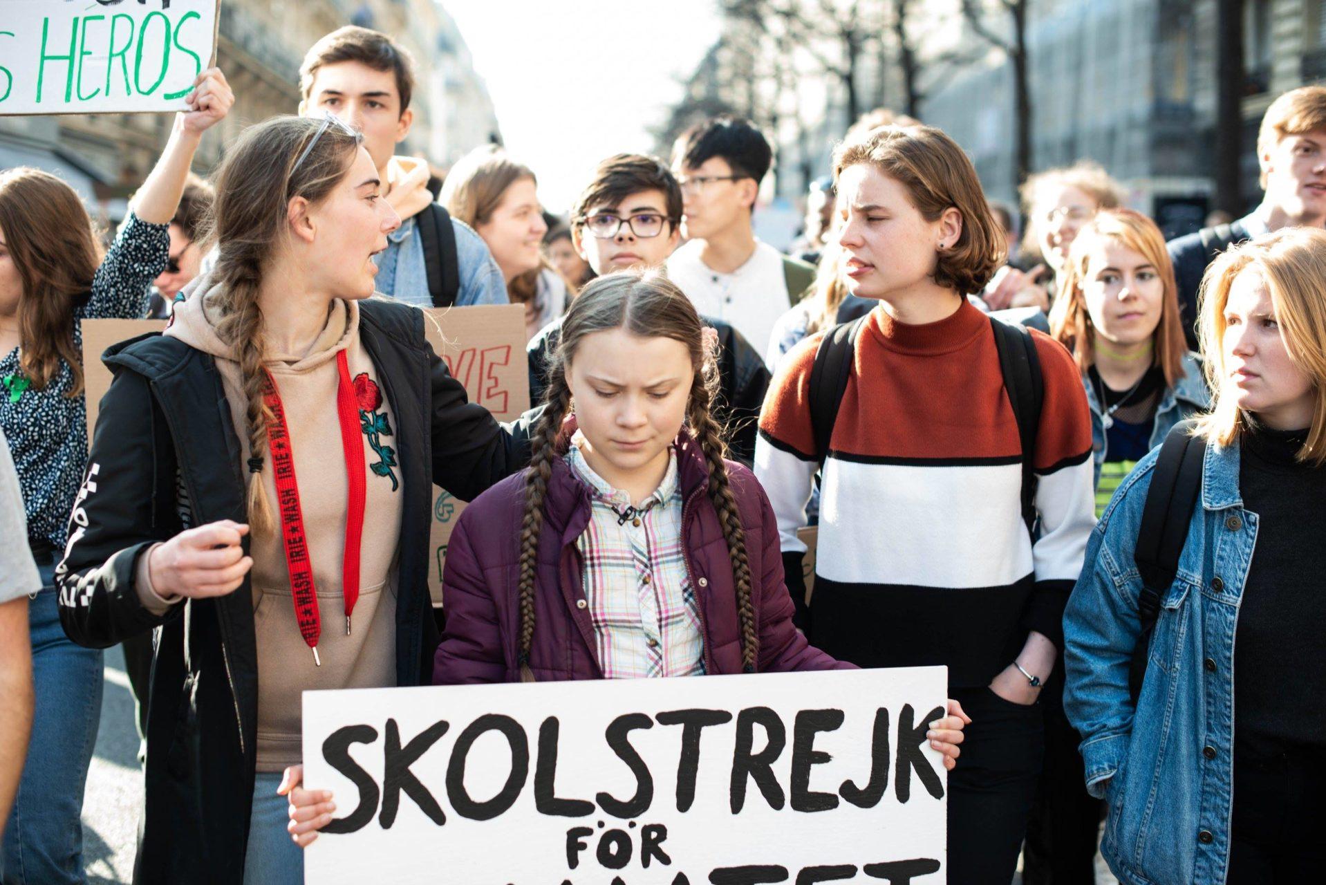 Greta Thunberg pounding the pavement in Paris