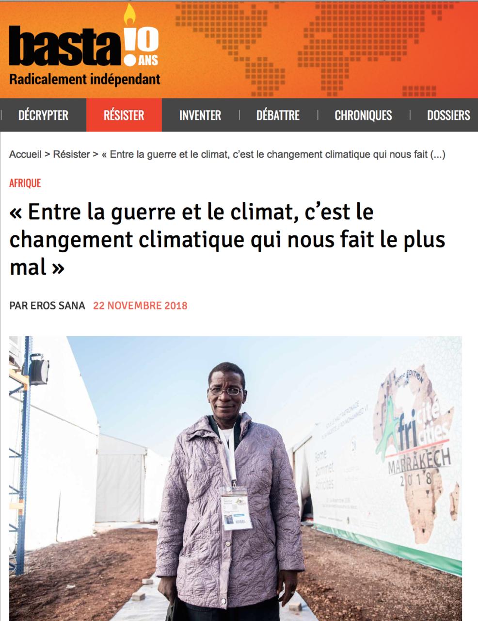 « Entre la guerre et le climat… »