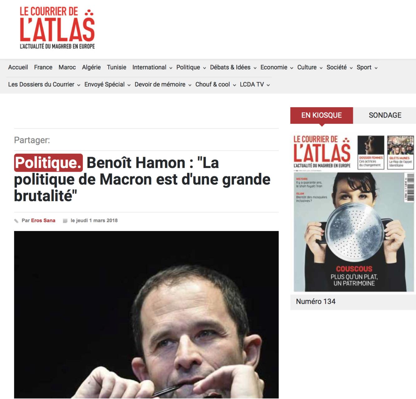 Interview de Benoit Hamon