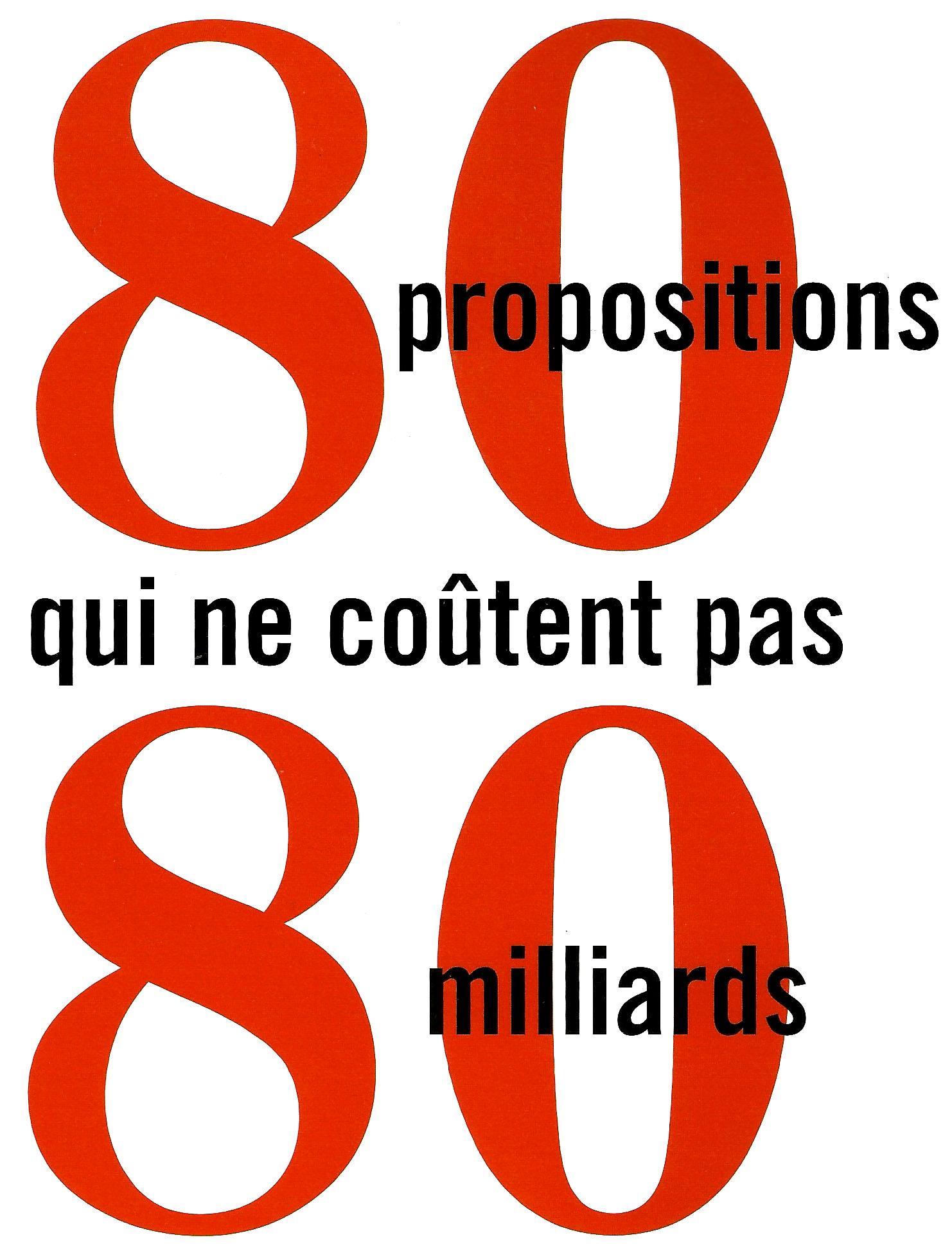80 propositions qui ne coûtent pas 80 milliards
