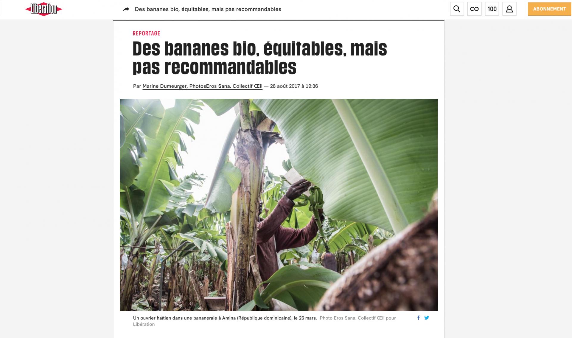 Des bananes bio, équitables, mais pas recommandables