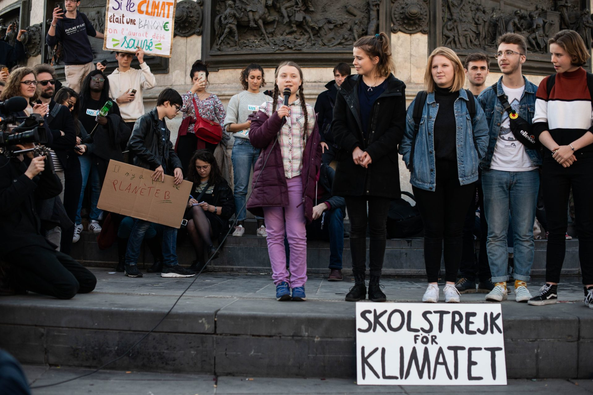 Greta Thunberg speaks in Paris